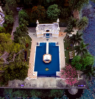 Udai Bilas Palace pool aerial view